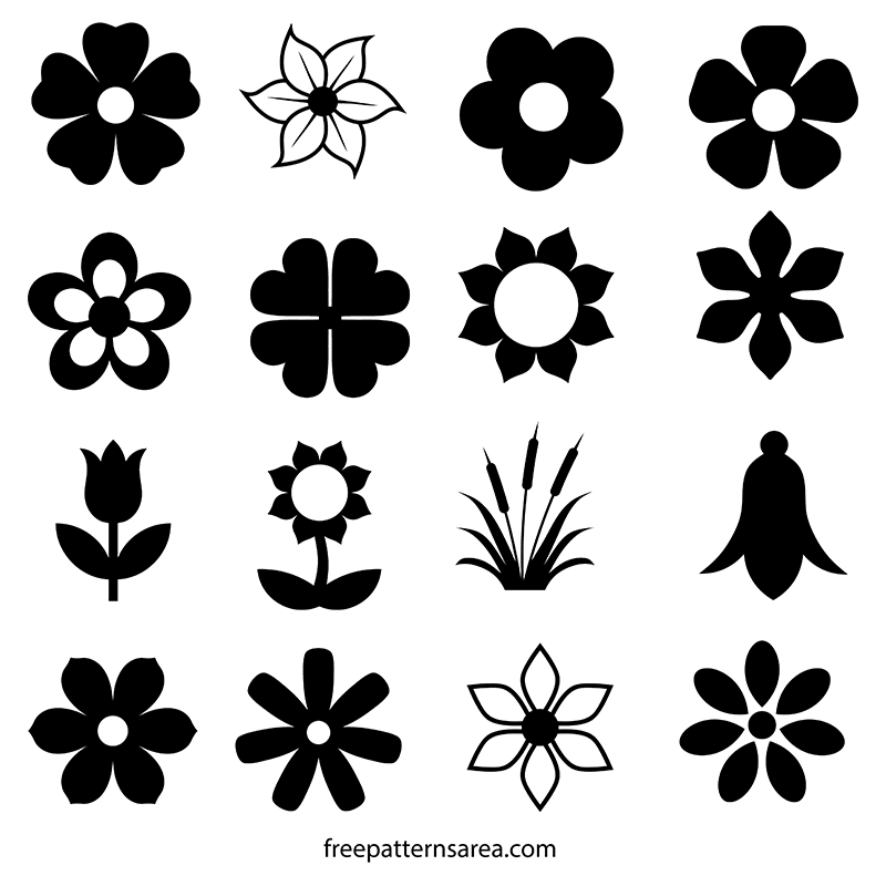 Flower Silhouette Vectors