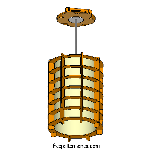 Hanging Lamp Shade Laser Cutter Wood