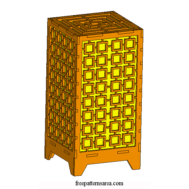 Laser Cut Light Box Table Lamp Image