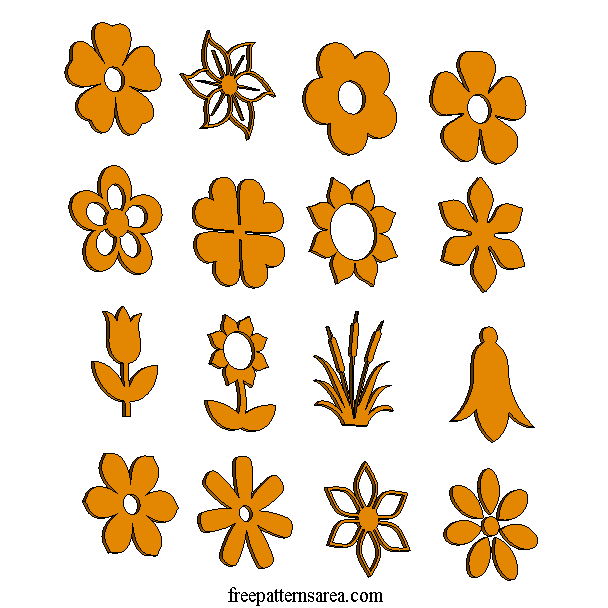 Laser Cut Wood Flower Shapes