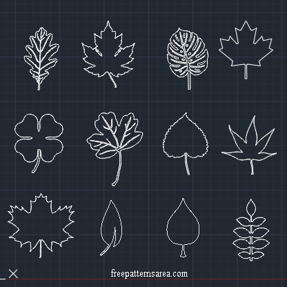 Leaf Autocad DXF DWG Files