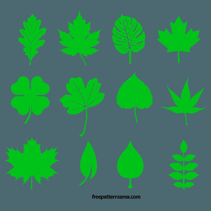Leaf Image Shapes Design SVG File