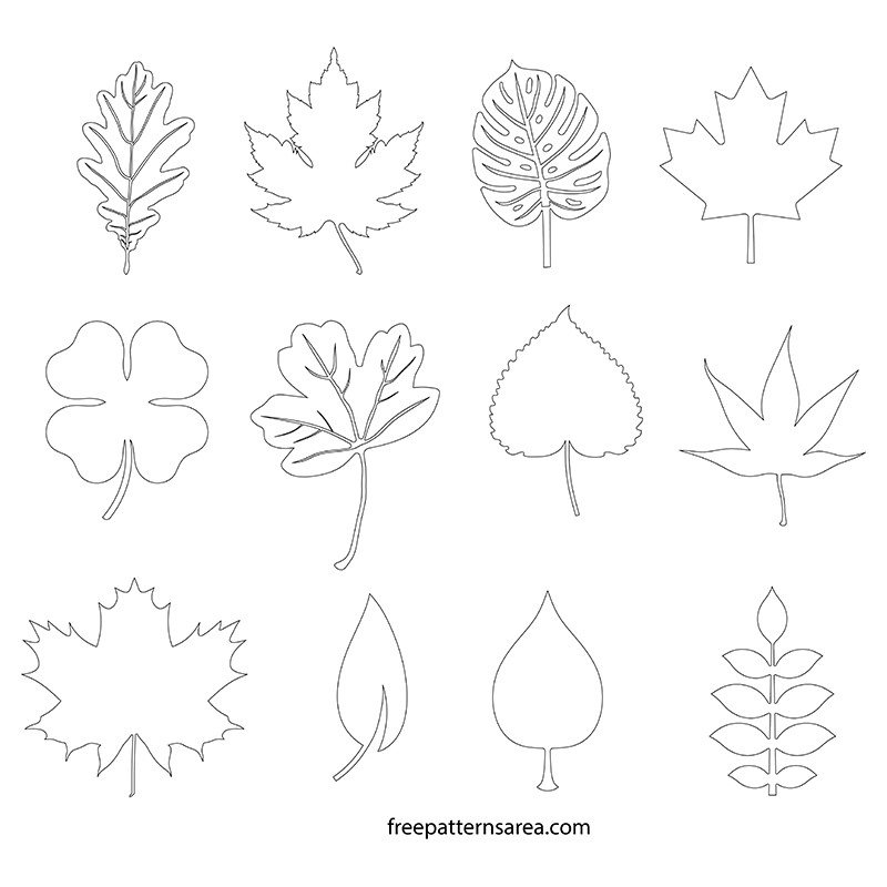 leaf silhouette vectors and templates freepatternsarea. Black Bedroom Furniture Sets. Home Design Ideas