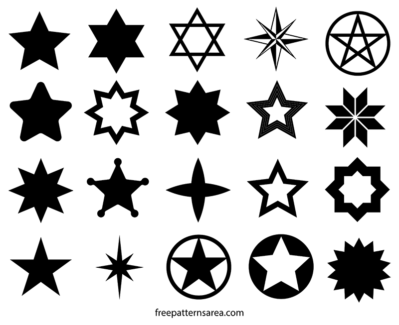 star shape vectors and templates freepatternsarea