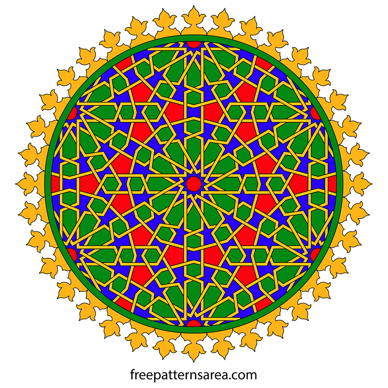 Islamic Art Vector Circle Motif Design