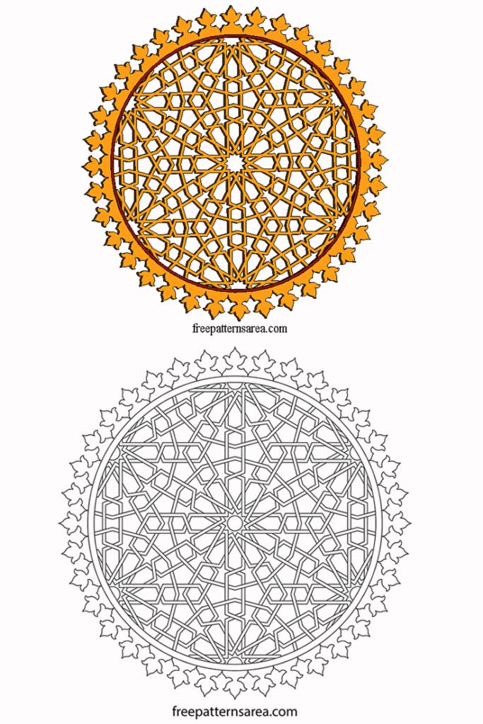 Laser Cut Wood Ornament Template