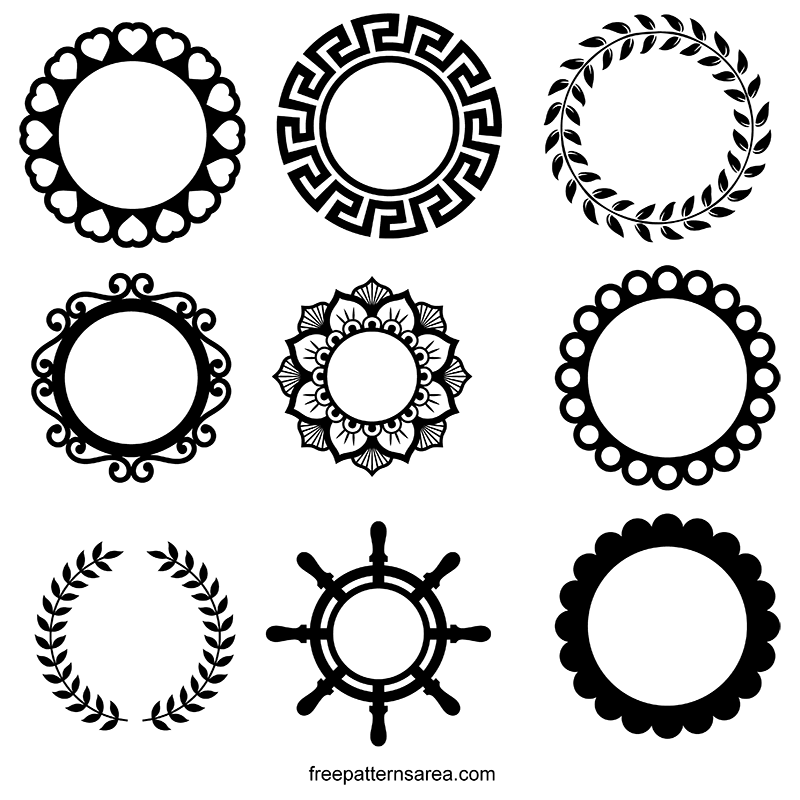 Circle Frame Vector Designs