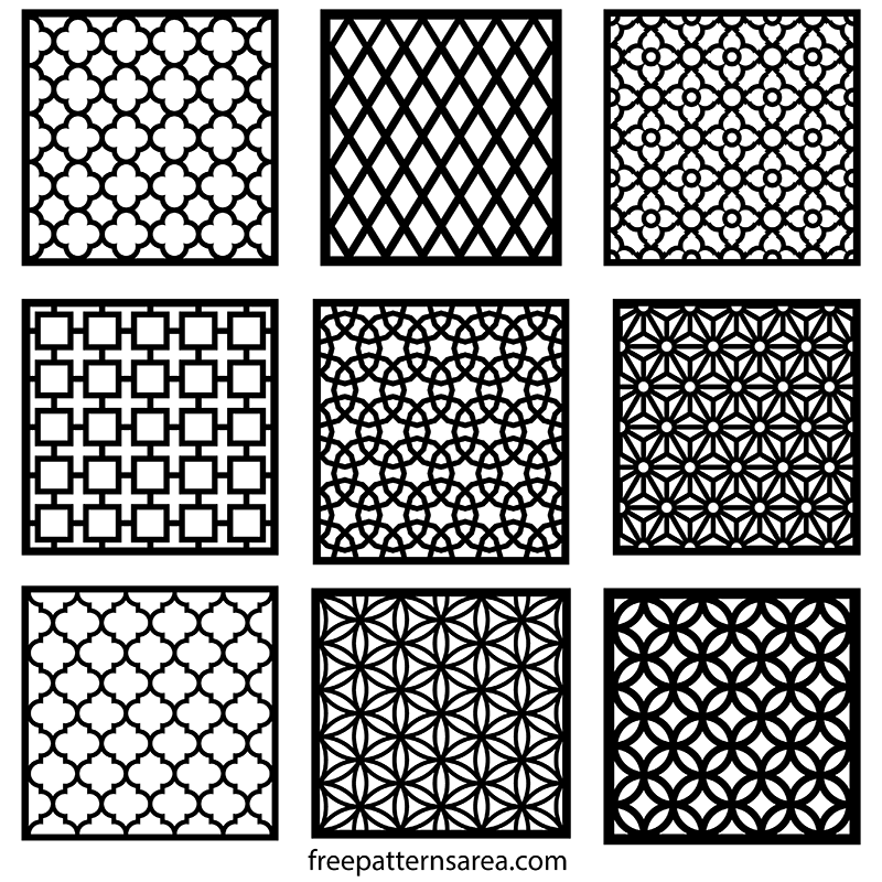 Cnc Laser Cut Decorative Wood Metal Screen Sheet Patterns