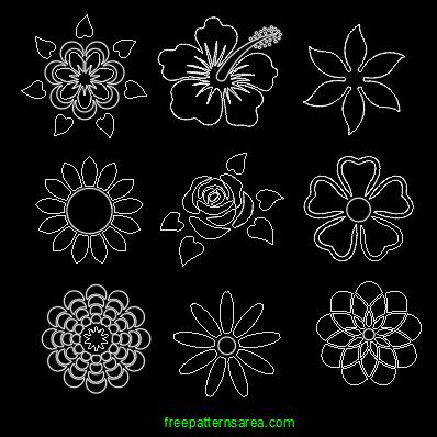Flower Stencil Dfx Dwg Autocad Cad File