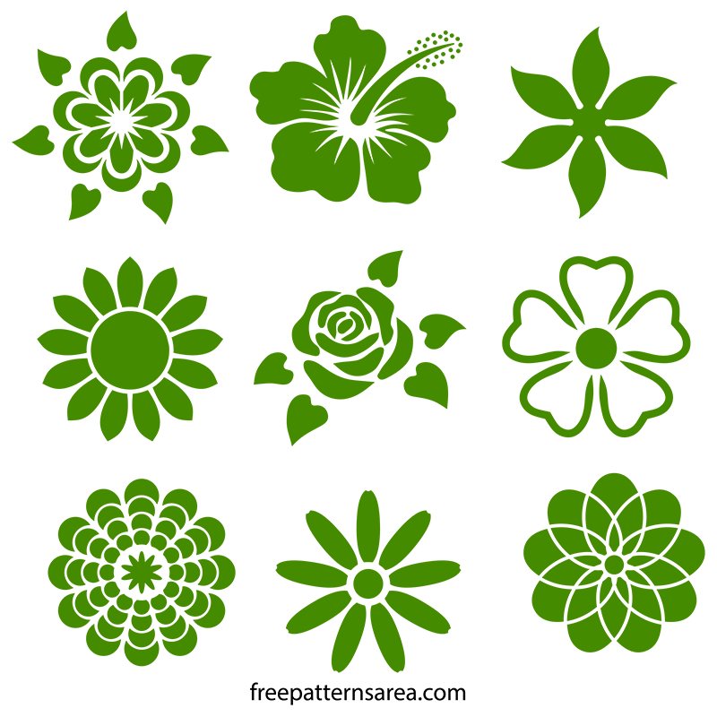 flower stencil designs freepatternsarea
