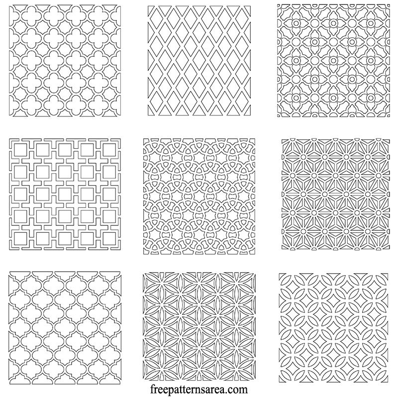 Geometric Pattern Wall Stencil Template