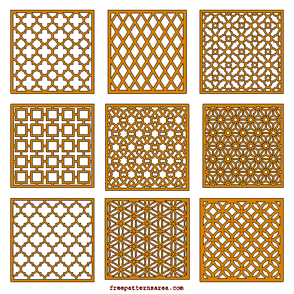 Laser Cut Cnc Router Cutting Wood Grill Panels Patterns