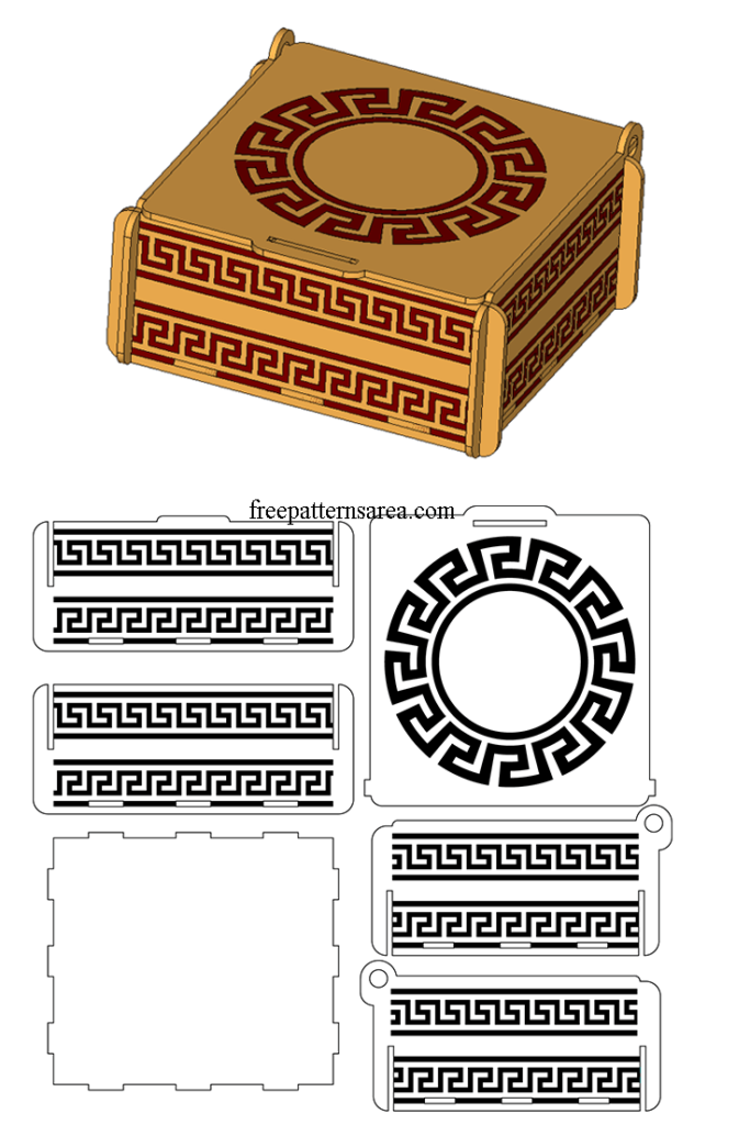 Laser Cut Engraved Gift Box Template