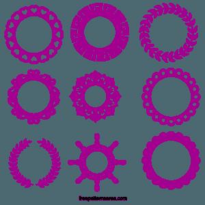 Monogram Frame Cuttable Designs Free Svg Cut Files For Cricut