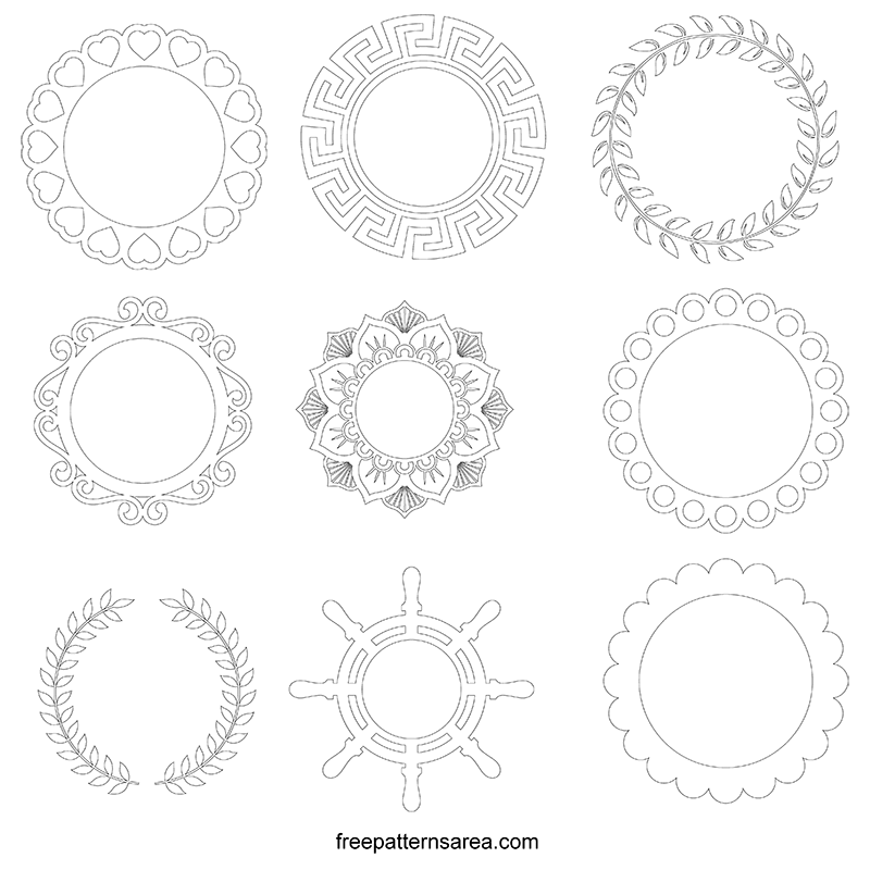 Printable Circle Frame Templates