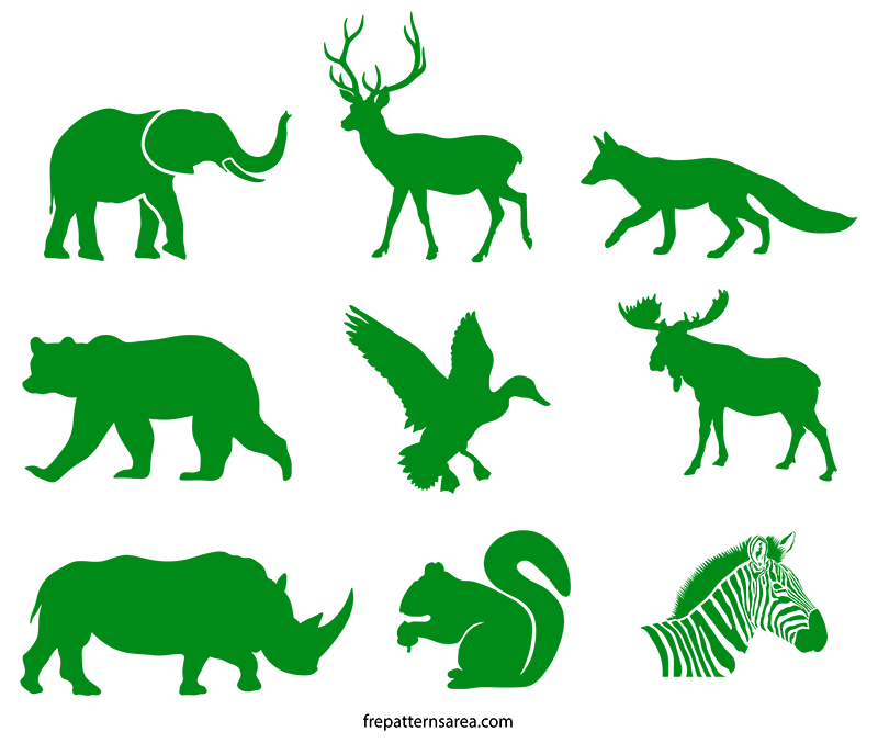 This is an image of Intrepid Printable Animal Stencils