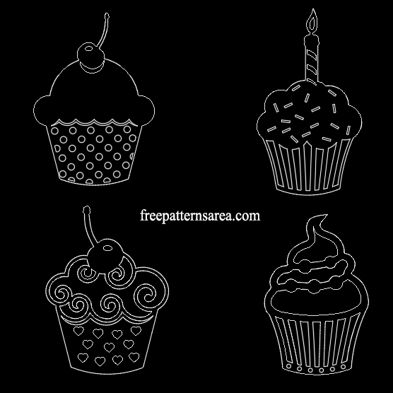 Cupcake Free Dxf Dwg File