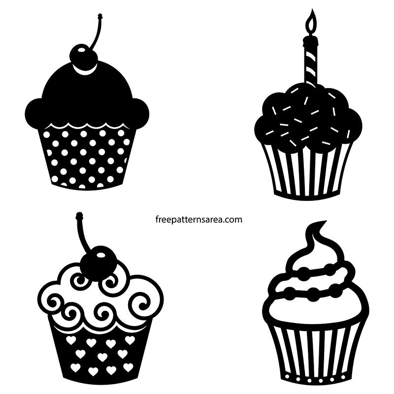 Cupcakes Vector For Silhouette Printer Cutter Machines
