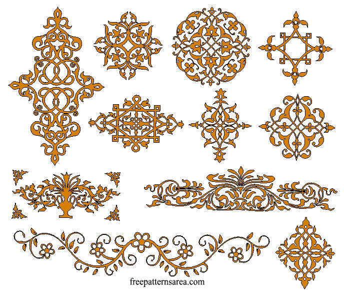 Geometrical Medieval Ornament Tile 3D CAD Design