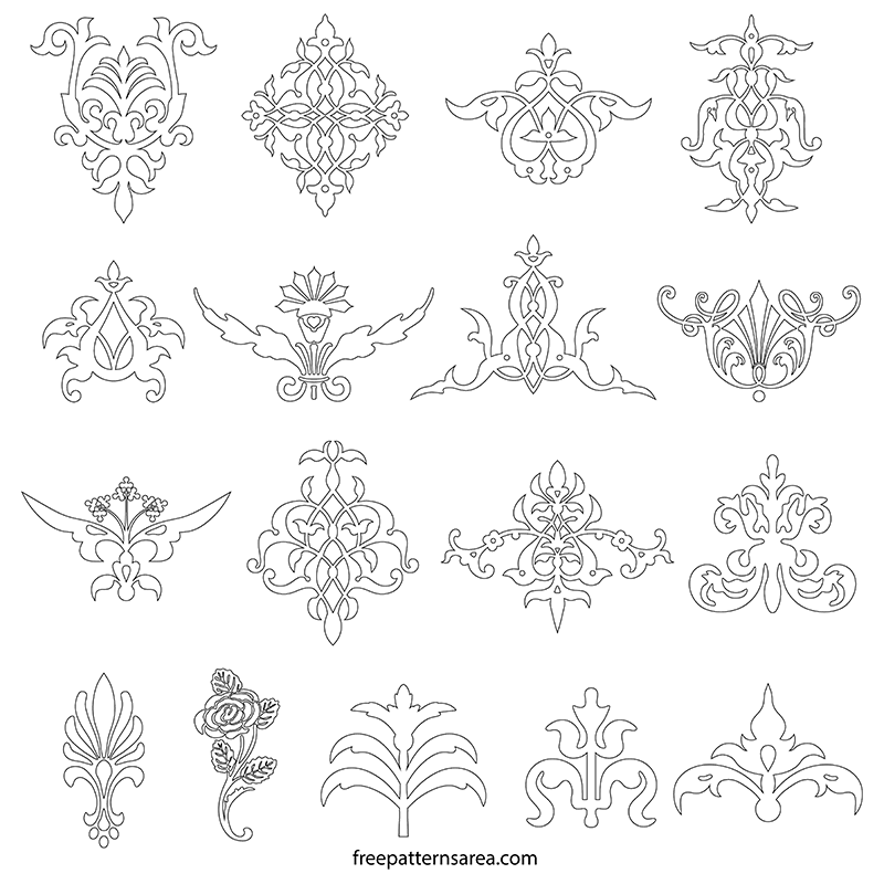 Ornamental Printable Line Design Template