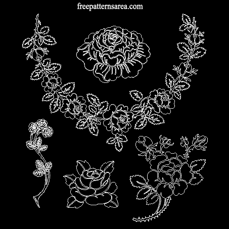 Rose Free Dxf Dwg Download