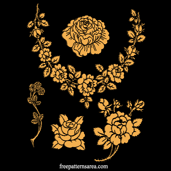 Rose Laser Cutting Engraving Pattern