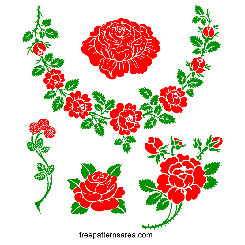 Rose Silhouette Graphic İmages Free Svg File