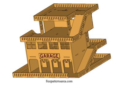 Wooden Parking Garage Cool Laser Cutter 3d Toy Project