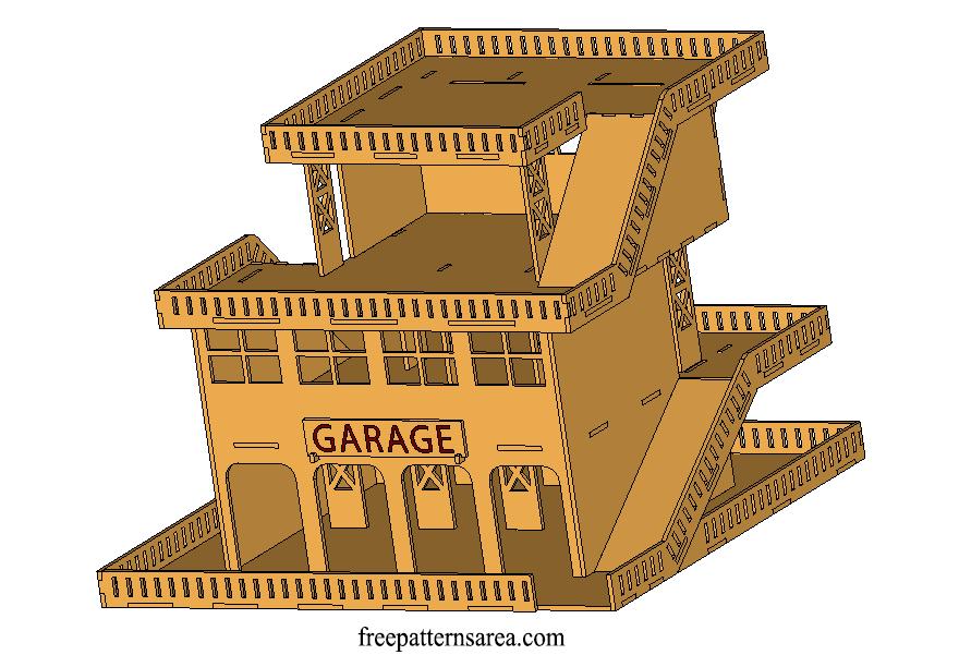 Parking Garages 3d Puzzle Laser Cut Toy Model Plan