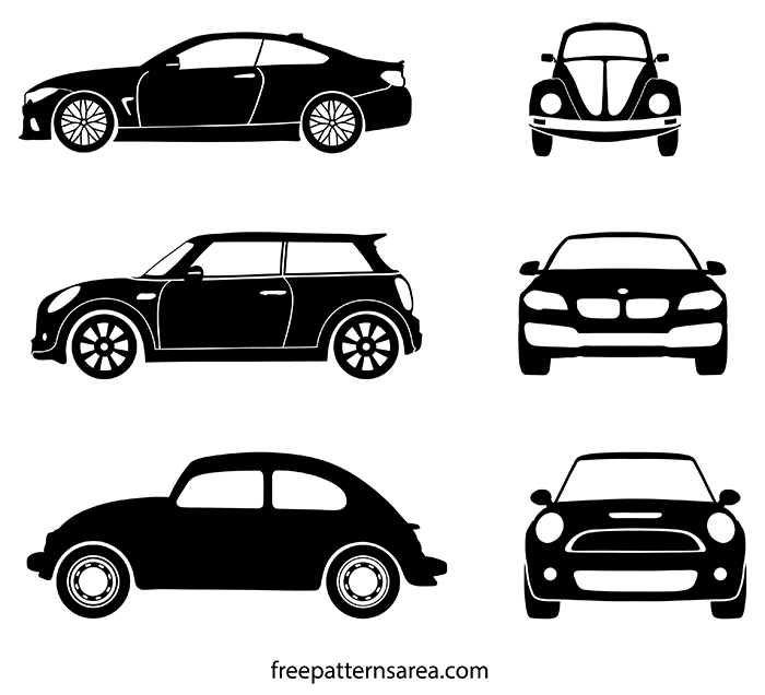 Auto Car Silhouette Illustration Vector Stencil Graphics