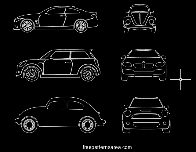Autocad Car Dxf Dwg Drawing Files