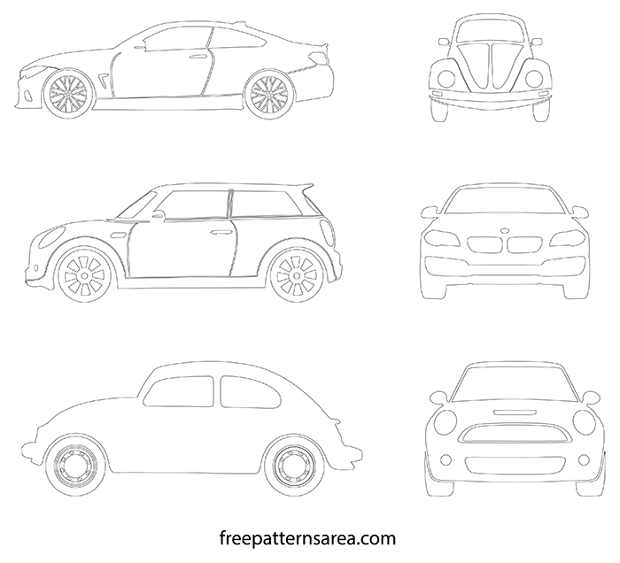 Car Printable Outline Templates