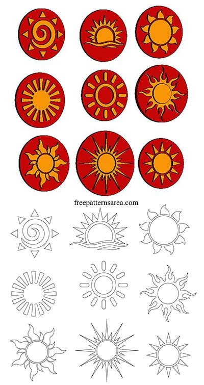 Cut Out Sun Stl Carving Plaque Wood Burning Pattern