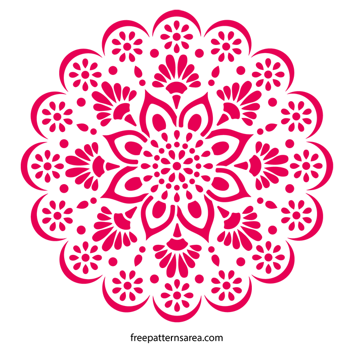 Mandala Stencil Wall Art Decal Pattern | FreePatternsArea