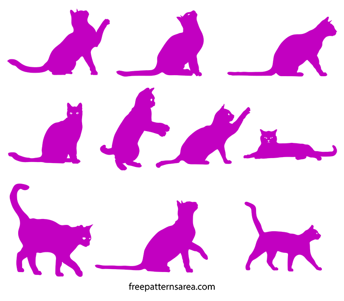 Free Cat Silhouette Svg Cut File