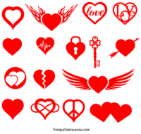 Free Heart Love Symbol Vector Image Shapes