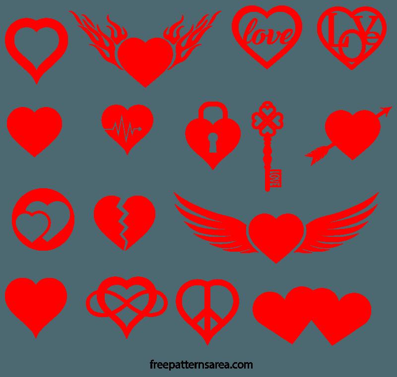 Free Heart Love Symbol Vector Image Shapes