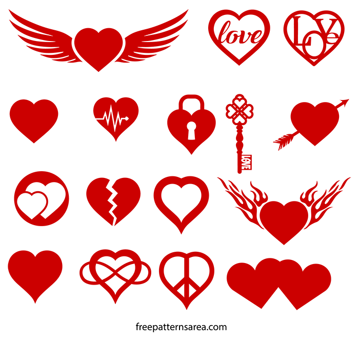 Heart Love Symbol Silhouette Free Svg Images