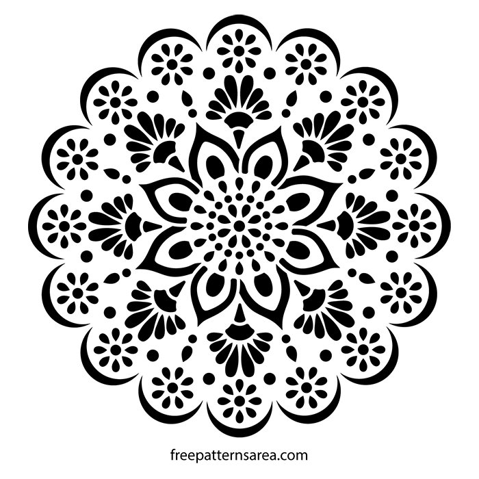 Mandala Stencil Wall Art Decal Image Pattern