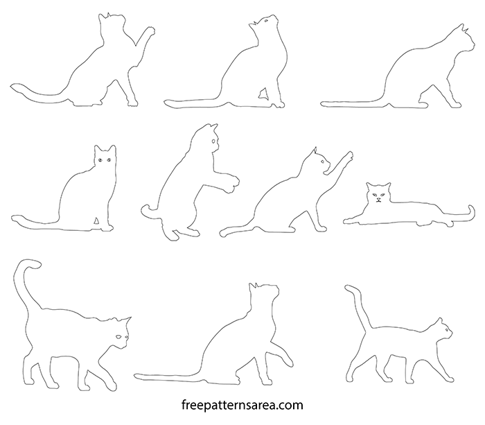 Printable Cat Outline Template