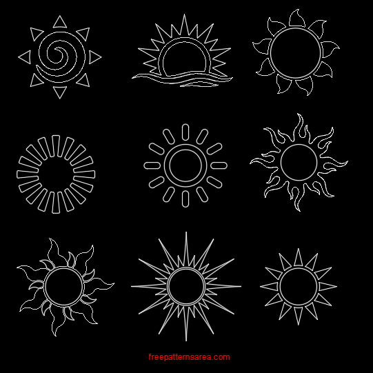 image about Printable Picture of the Sun titled Solar Vector History Cost-free Printable Stencils Templates
