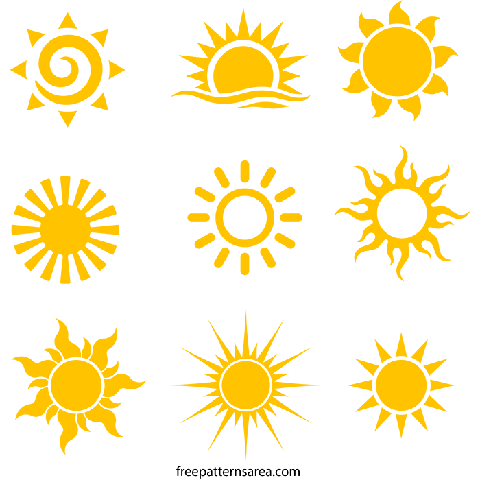 Sun Free Svg Royalty Vector Graphics File