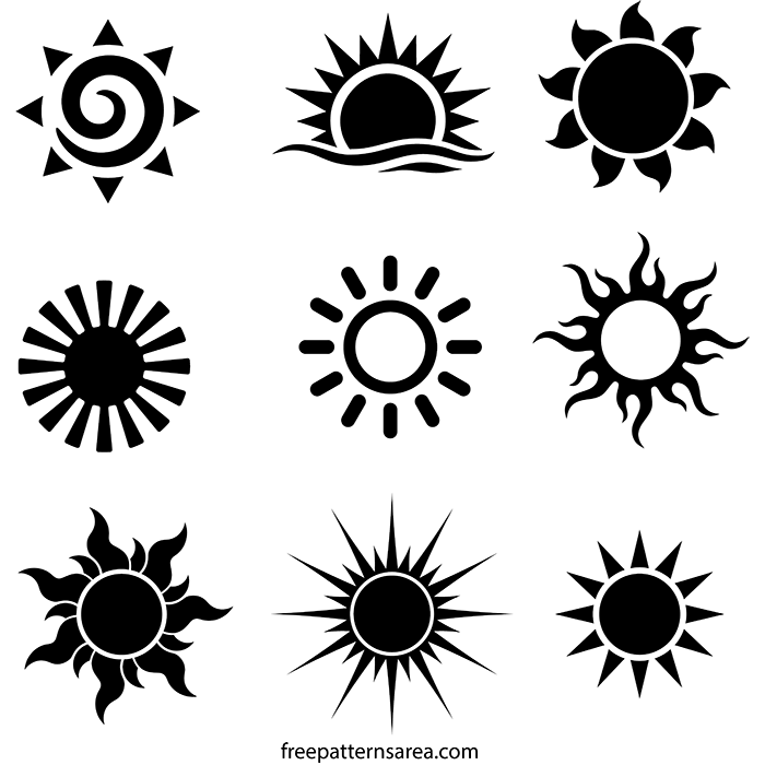 photograph regarding Sun Stencil Printable referred to as Solar Vector History Totally free Printable Stencils Templates