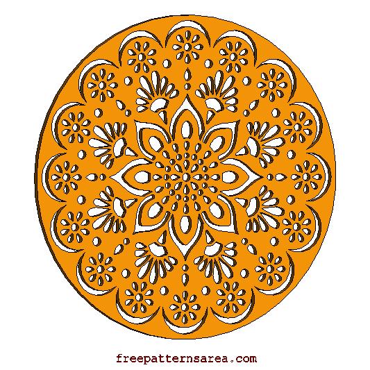 Wood Mandala Decorative Laser Cut Template