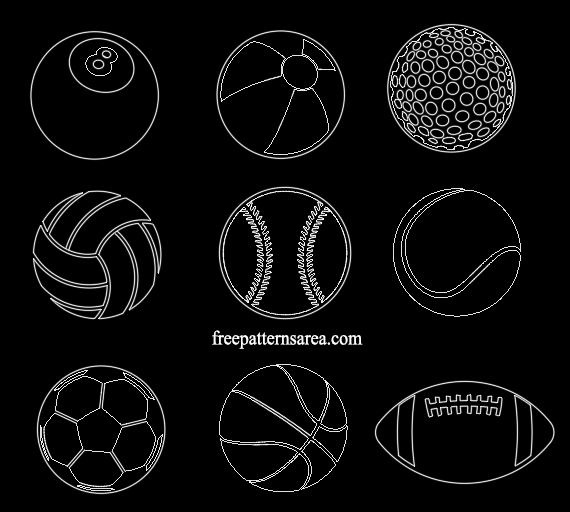 Autocad Sports Ball Dxf Dwg File