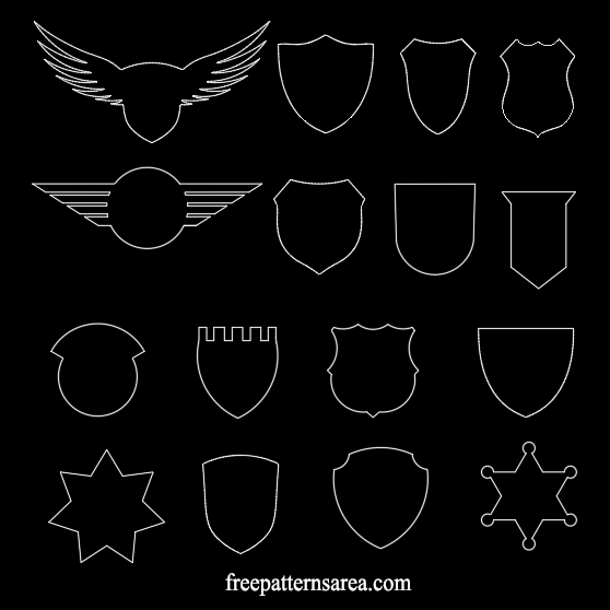 Badge Crest Autocad Dxf Dwg Files