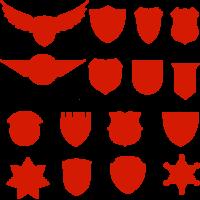 Badge Crest Silhouette Vector