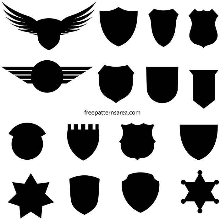 Badge Crest Silhouette Vector