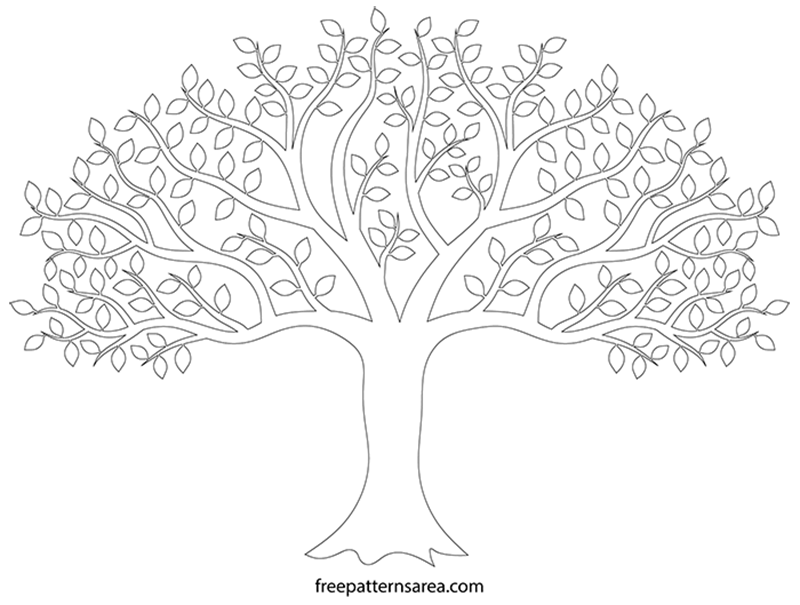 Black Tree Silhouette Vector Art Freepatternsarea