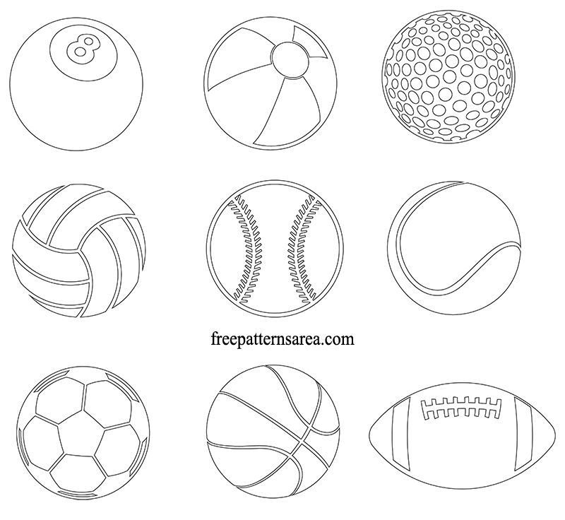 photograph about Soccer Ball Template Printable called Sporting activities Ball Cost-free Vector Cliparts, Sticker Template Record